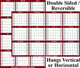 24x36 SwiftGlimpse 2020 Wall Calendar Erasable Large Wet & Dry Erase Laminated 12 Month Annual Yearly Planner, Reversible
