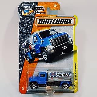 Matchbox 2017 MBX Construction Petrol Pumper (Fuel Truck) 32/125, Blue