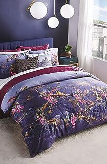 Ted Baker Hibiscus Comforter Set, King, Dark Grey