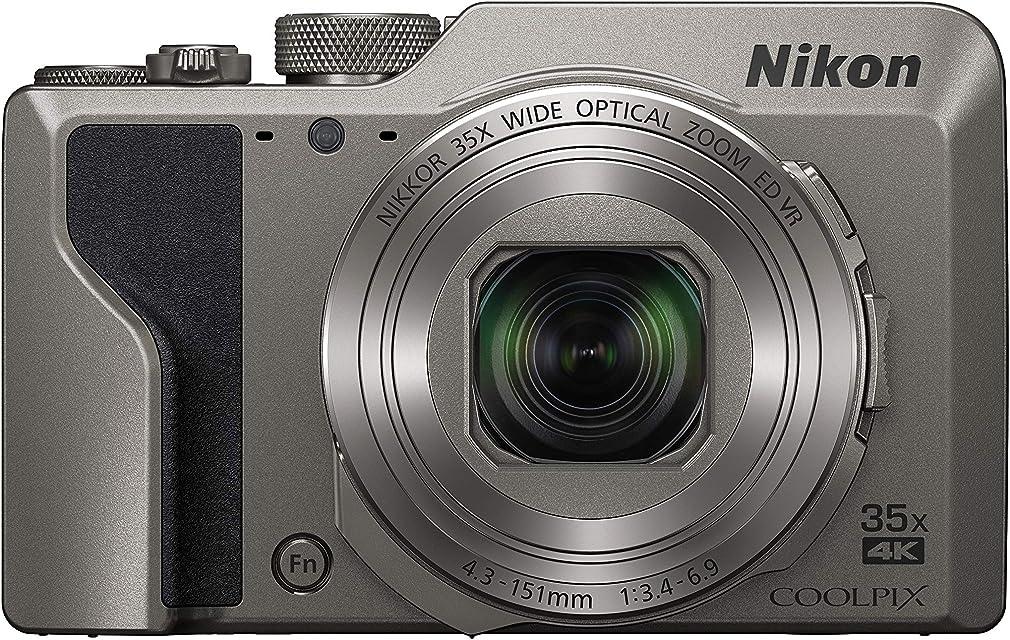 Nikon COOLPIX A1000 Cámara compacta 16 MP CMOS 4608 x 3456 Pixeles 1/2.3 Negro Plata - Cámara Digital (16 MP 4608 x 3456 Pixeles CMOS 35x 4K Ultra HD Negro Plata)