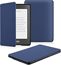 OMOTON Kindle Paperwhite Case (10th Generation-2018), Smart Shell Cover with Auto Sleep Wake Feature for Kindle Paperwhite 10th Gen 2018 Released, Navy Blue