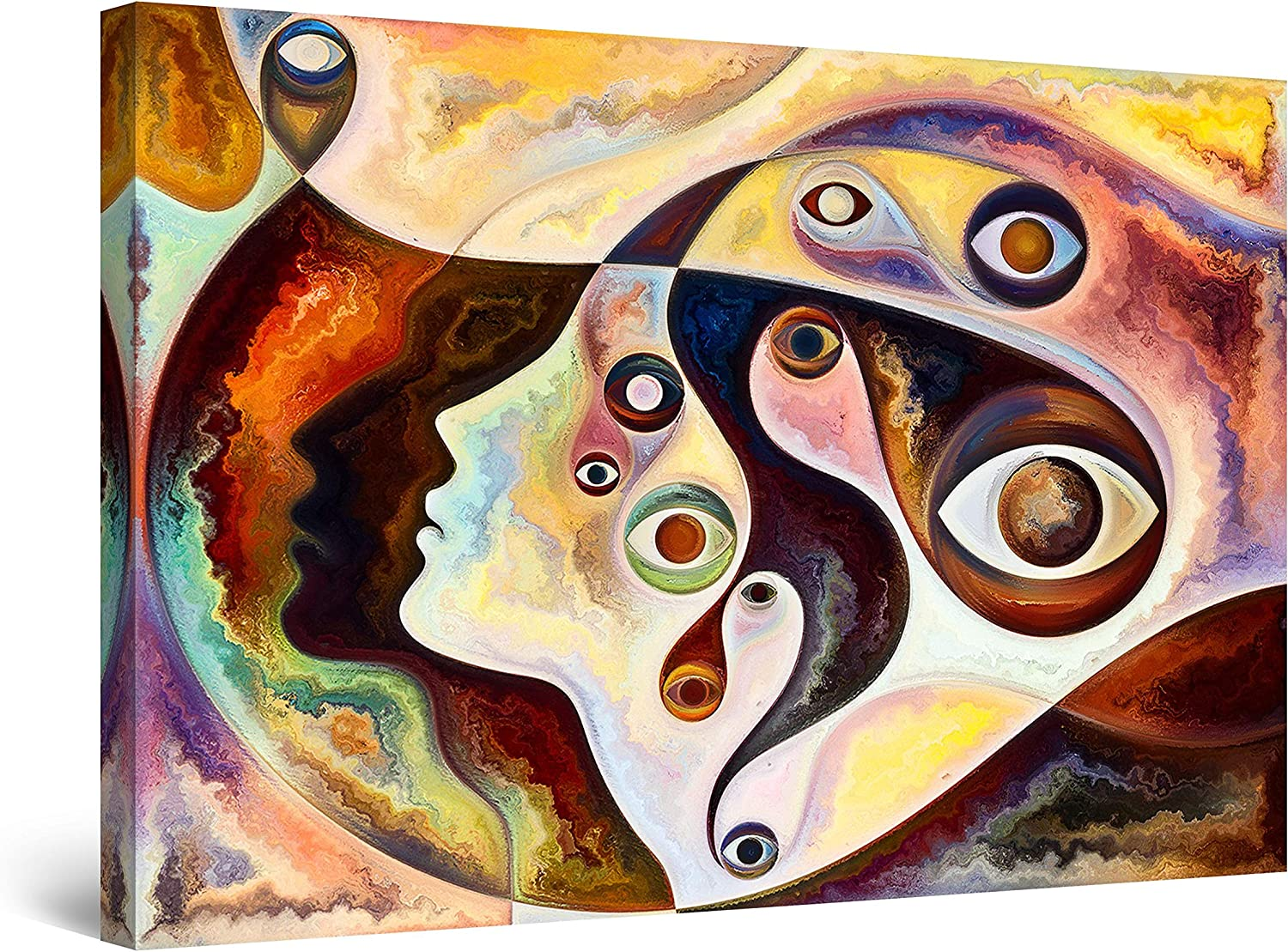 Startonight Canvas Wall Max 74% OFF Art Decor Abstract a free shipping of Figurative Face