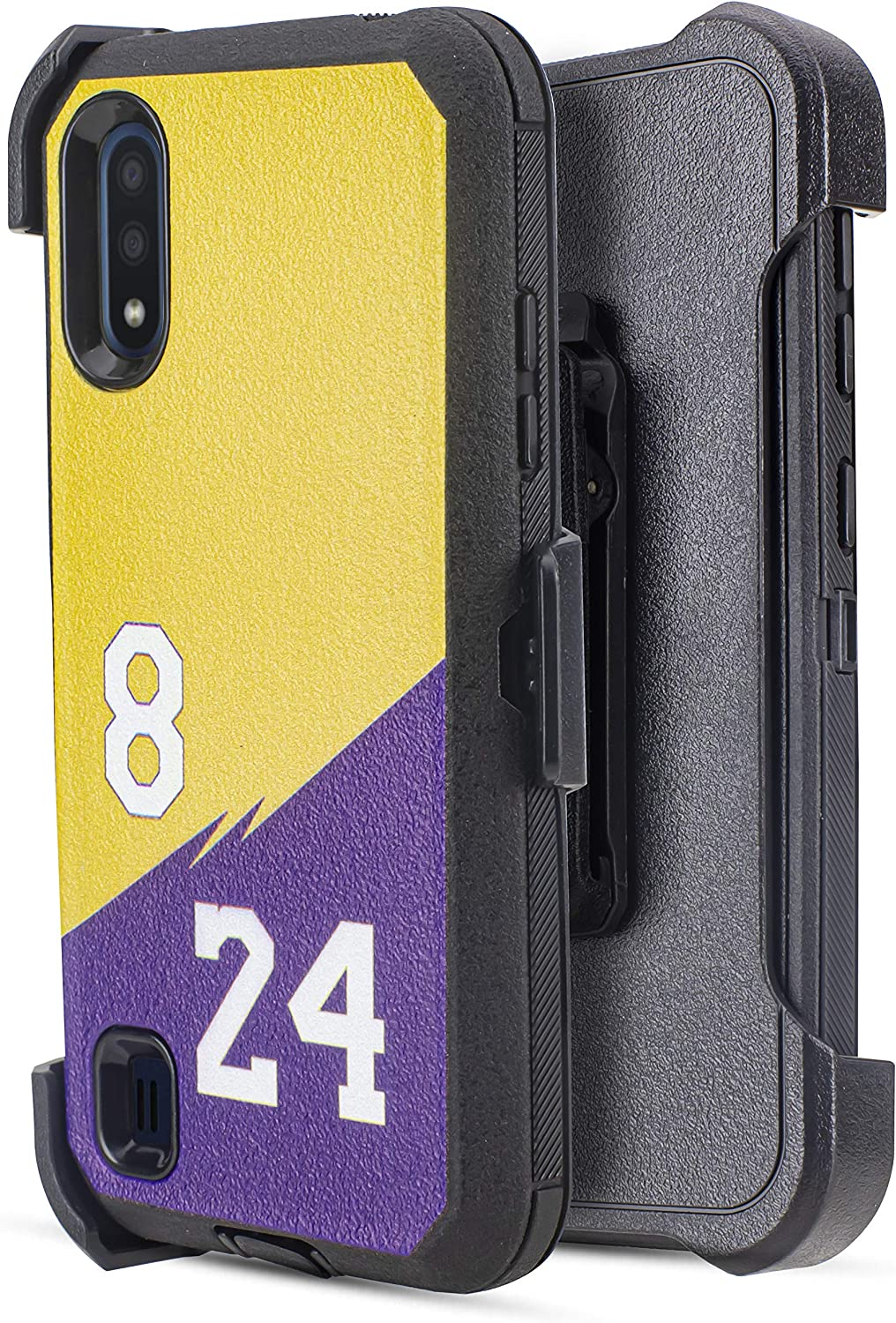 Compatible for Samsung Galaxy A01 Heavy Duty Belt Clip Case, Jackpot Wireless Case Built-in [Screen Protector] Heavy Duty Holster Cover Phone Case [Belt Clip][Kickstand] (8/24)