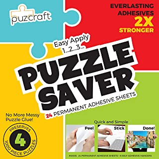 Puzzle Saver Adhesive Sheets (24-Pack) Easiest Alternative To Messy Puzzle Glue