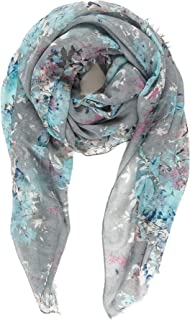 Scarf for Women Lightweight Floral Flower Fashion Scarves for Spring Shawl Wrap