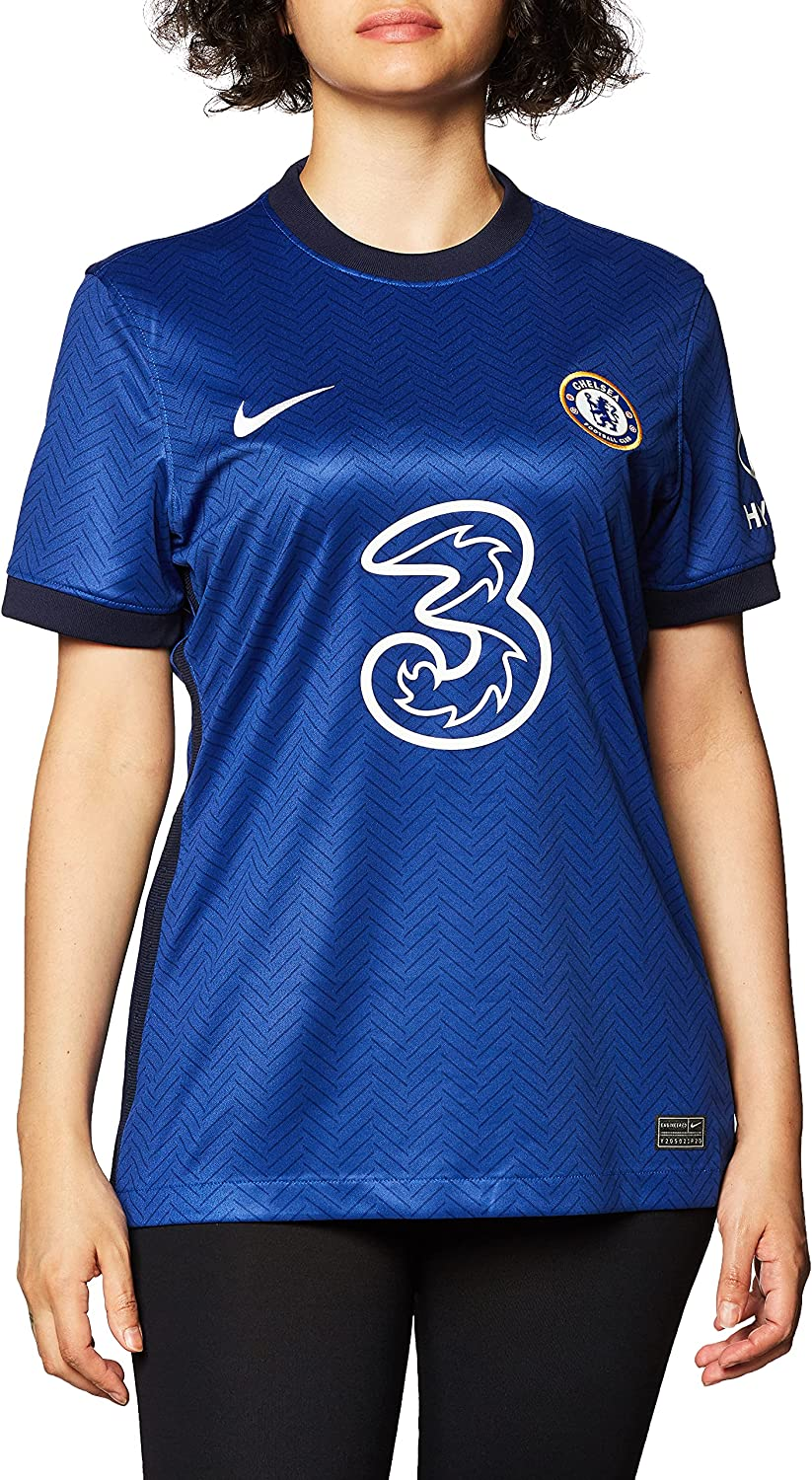 Nike 2020-2021 Chelsea Home Ladies Football Soccer T-Shirt Jersey