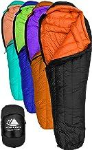 Best Hyke & Byke Eolus 15 & 30 Degree F 800 Fill Power Hydrophobic Goose Down Sleeping Bag with ClusterLoft Base - Ultra Lightweight 3 Season Men's and Women's Mummy Bag Designed for Backpacking Review