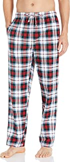 Nautica Men's Cozy Fleece Plaid Pajama Pant, Red, Large