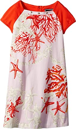 Short Sleeve Dress Starfish Print (Toddler/Little Kids)