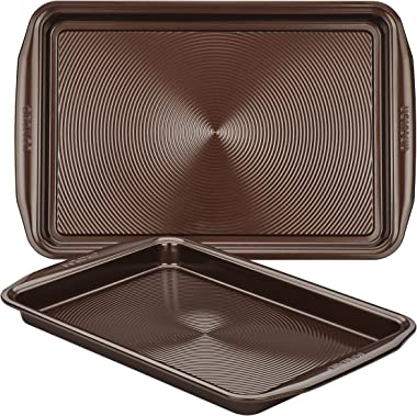 Circulon Nonstick Bakeware Set with Nonstick Cookie Sheets/Baking Sheets - 2 Piece, Chocolate Brown