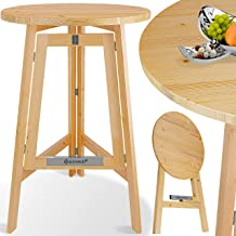 KESSER Stehtisch Klappbar Massiv Holz Tannenholz | Durchmesser 78cm x 111 cm Rund | Bistrotisch | Partytisch | Holzstehtisch | Gartentisch | Klapptisch | Holztisch | Tisch Klappbar | In- & Outdoor |