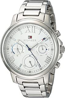 Tommy Hilfiger Women's Casual Quartz Watch with Stainless-Steel Strap, Tone, 16 (Model: 1781741)