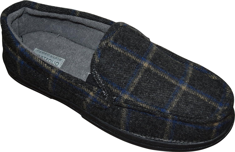Perry Ellis herrar Flannel Plaid Mocasins Slippers Slippers Slippers svart  shoppa nu