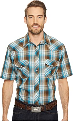 Roper - 1647 Turqoise and Brown Plaid