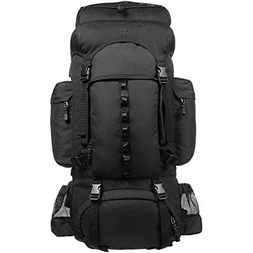 AmazonBasics Internal Frame Hiking Backpack with Rainfly 1fc0fe36001a5