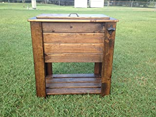 Stained wood cooler stand