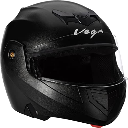 Vega Crux Flip-up Helmet (Black, L)