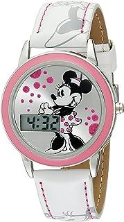 ساعة ديزني كيدز MN1022 ميني ماوس بسوار جلدي ابيض