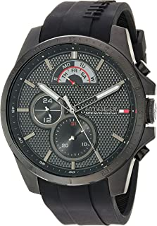 Tommy Hilfiger Men's Cool Sport Quartz Watch with Silicone Strap, Black, 22 (Model: 1791352)