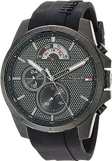 Tommy Hilfiger Men's Cool Sport Quartz Watch with Silicone Strap, Black, 22 (Model: 1791352)