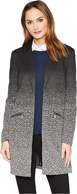 Notch Collar Jacket with Zippers