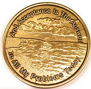 Acceptance Is The Answer Beach Sunrise Bronze AA Medallion Chip Page 449 417