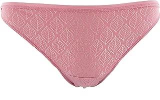 KICKEE Women's Print Bikini Brief in Desert Rose Gold Leaf, XL