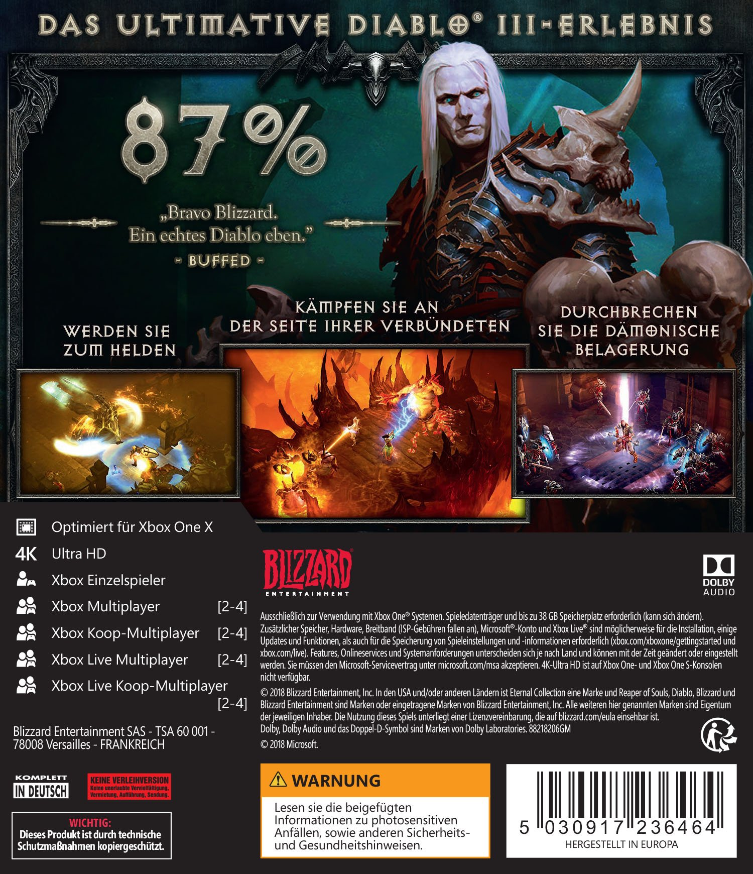 DIABLO III: ETERNAL COLLECTION - Xbox One [Importación alemana ...