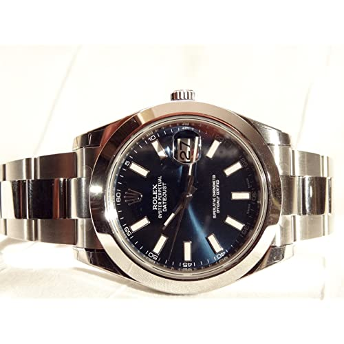 NEW Rolex Datejust II Stainless Steel Blue Sticks Oyster Mens watch 116300 BLIO
