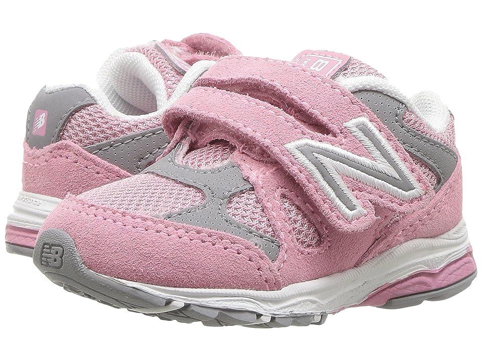 New Balance Kids KJ888v1I (Infant/Toddler) (Pink/Steel) Girls Shoes