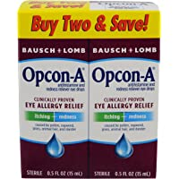 2-Pack Opcon-A 15 ml Eye Drops for Free