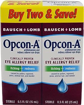 2-Pack Bausch & Lomb Opcon-A 15 ml Eye Drops