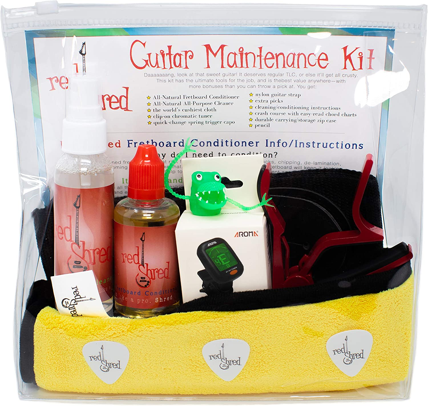 Guitar All-in-One Accessories Starter Trust Max 86% OFF Condit Kit Fretboard Oil