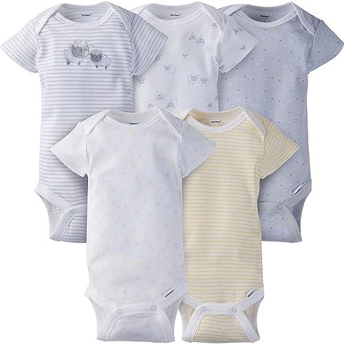 aa08bc54f Gerber Baby Boys' 5-Pack Variety Onesies Bodysuits