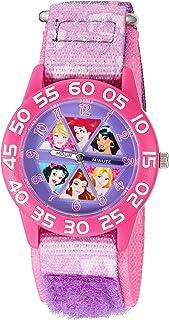 ساعة ديزني سندريلاه كوارتز البلاستيك والنايلون للبنات - اللون: ارجواني موديل W002949