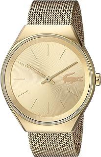 Lacoste Valencia 2000952 - Reloj de cuarzo y acero inoxidable para mujer, color dorado