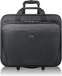 Solo New York Empire Rolling Laptop Bag.  Rolling Briefcase for Women and Men. Fits Up to 17.3 Inch Laptop - Black