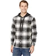 Holger Easy Fit Long Sleeve Hooded Sport Shirt, Button Closure W664V4B