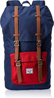 Herschel Supply Co. Little America Flapover Backpack, Navy/Red/Tan, Classic 25L