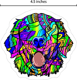 Rainbow Colored Dog Sticker/Decal for car, Water Bottle, Notebook, Tablet or Mobile Phone | Size: 4.5 x 4.5 inches | Color: Multicolored