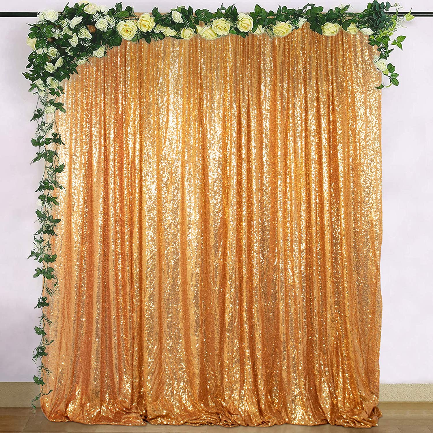 Gold Sequin 100% quality warranty Photo Backdrop Photography Wedding Large-scale sale Backg Booth