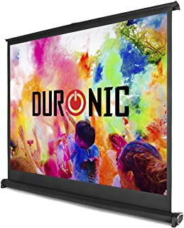 Duronic DPS 50/ 43 Beamer Leinwand / 50' / 4:3 / Tragetasche / 102 x 76cm /4 K Full HD 3D/ Verstärkung 1.0 / Projektor Leinwand / Ideal für Heimkino, Büro, Präsentationen, Schulen, Events