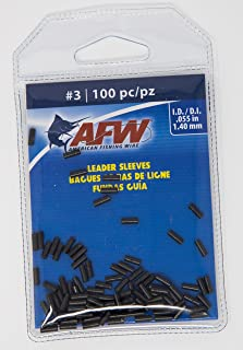 AFW American Fishing Wire Single Barrel Copper Crimp Sleeves Leader Size 3 100pc