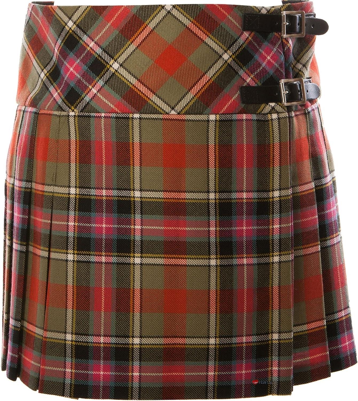 ILuv Ladies Pure Wool Tartan Billie Kilt 15  Length Bruce of Kinnaird