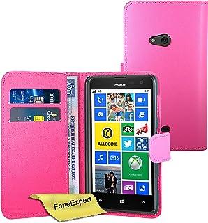 Nokia Lumia 625 fodral, FoneExpert® premium läder plånbok bokfodral för Nokia Lumia 625 + skärmskydd och tyg, Plånbokfodra...