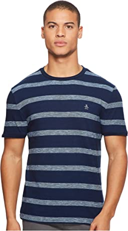Original Penguin - Short Sleeve Indigo Auto Stripe Tee