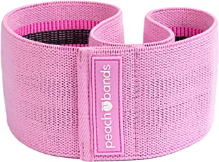 Peach Bands   Premium Pink Resistance Hip Band with Carrying Bag   Thick and Non-Slip Design