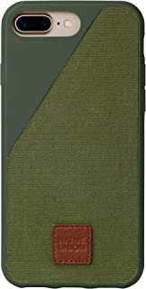 Native Union CLIC 360 Case for iPhone 7 Plus - Military Grade Drop-Proof Protective Cover Made with British Millerain Waxed Canvas (Olive)
