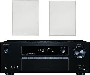 Onkyo 5.2 Channel Full 4K Bluetooth AV Home Theater Receiver + Polk 8