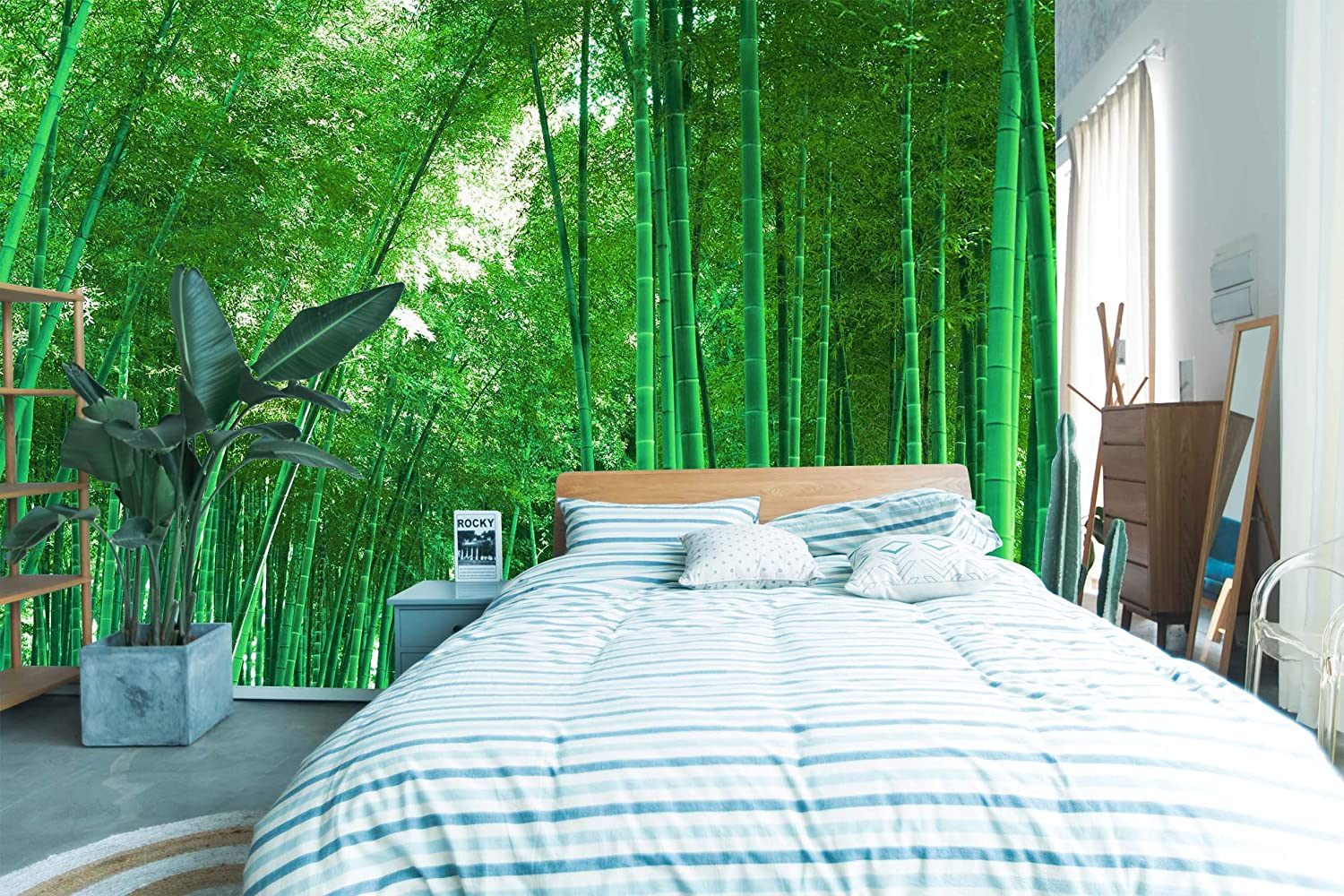 3D Green Bamboo Forest 1764 Wall Decal Deco Print Mur Paper 2021 new Overseas parallel import regular item
